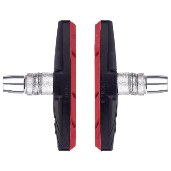 TrailHop Red TrailHop Bike V-Brake Pads | Rubber, Less Noise, and No-skid | 70 mm OODS0000611