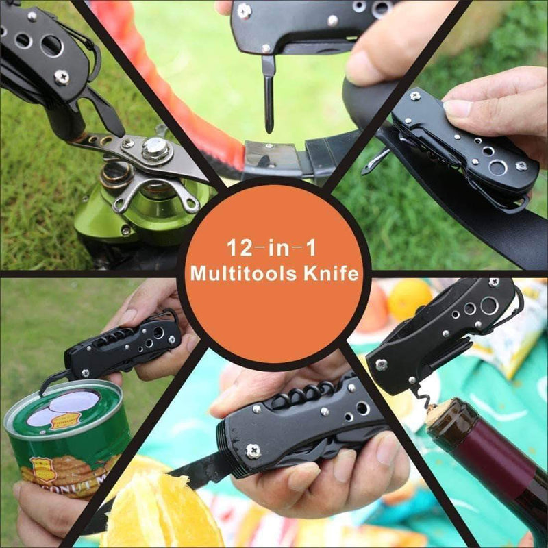 Utool Multi-Functional Folding Knives Pocket Camping Survival Swiss Knives-Stainless Steel - Ooala