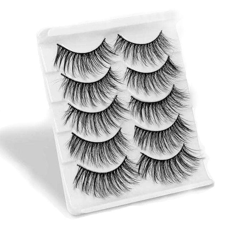 Velvery 1 Velvery High Volume 3D False Eyelashes, Long and Thick, 5 Pairs OODS0000595