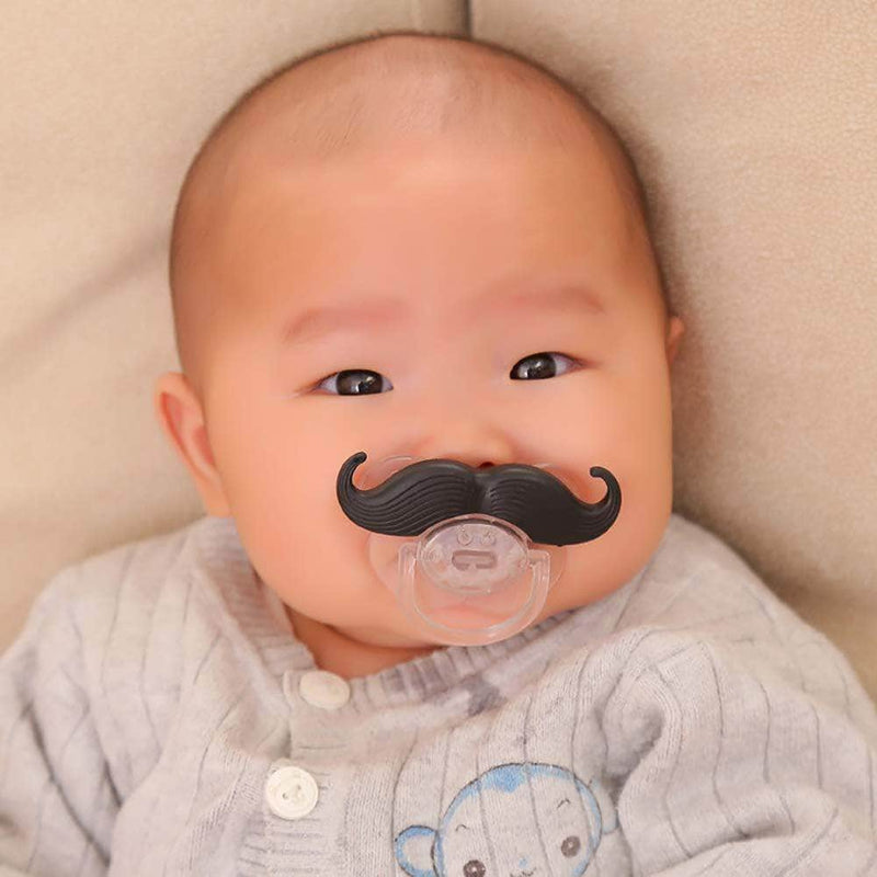 Viaxos Viaxos Mustache Baby Pacifier | Silicone Nipple Teething Toy | Black