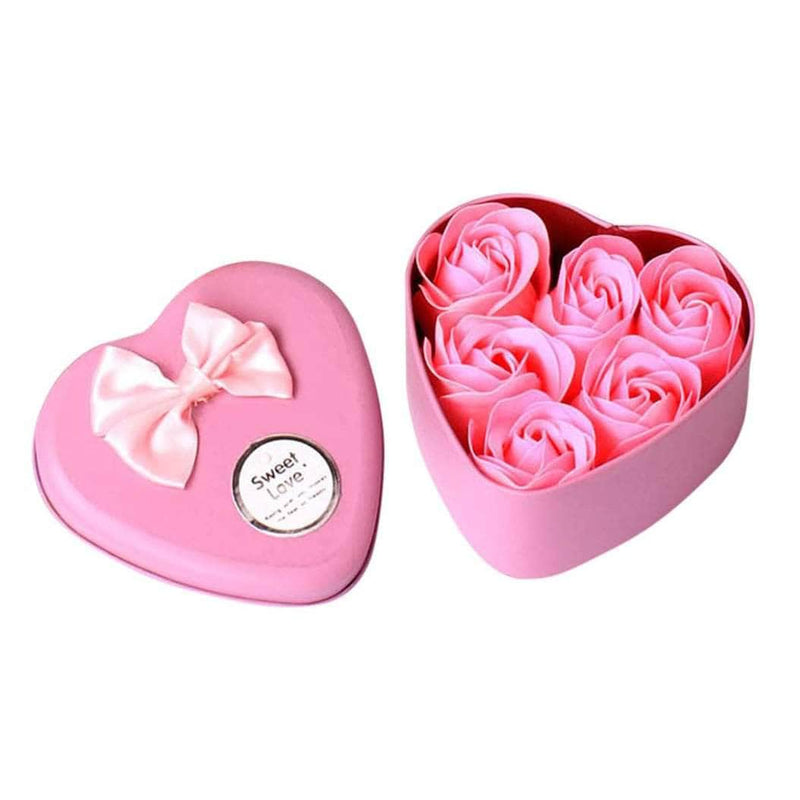Washana Pink Washana 6Pcs Heart Scented Bath Body Petal Soap OODS0000993