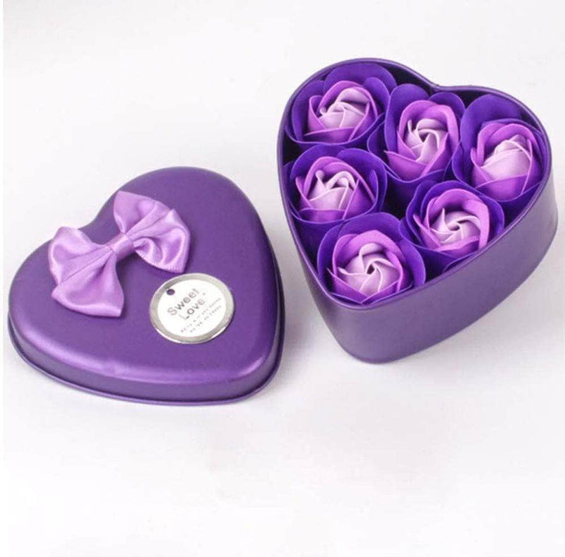 Washana Purple Washana 6Pcs Heart Scented Bath Body Petal Soap 29458951-china-purple