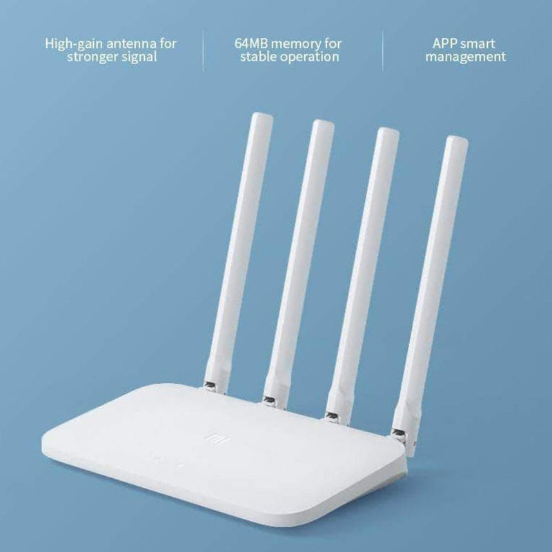 Wixi Wifi Internet Router with 4 Antennas | 64MB Wireless Router Repeater Comp with 802.11n Protocol - Ooala