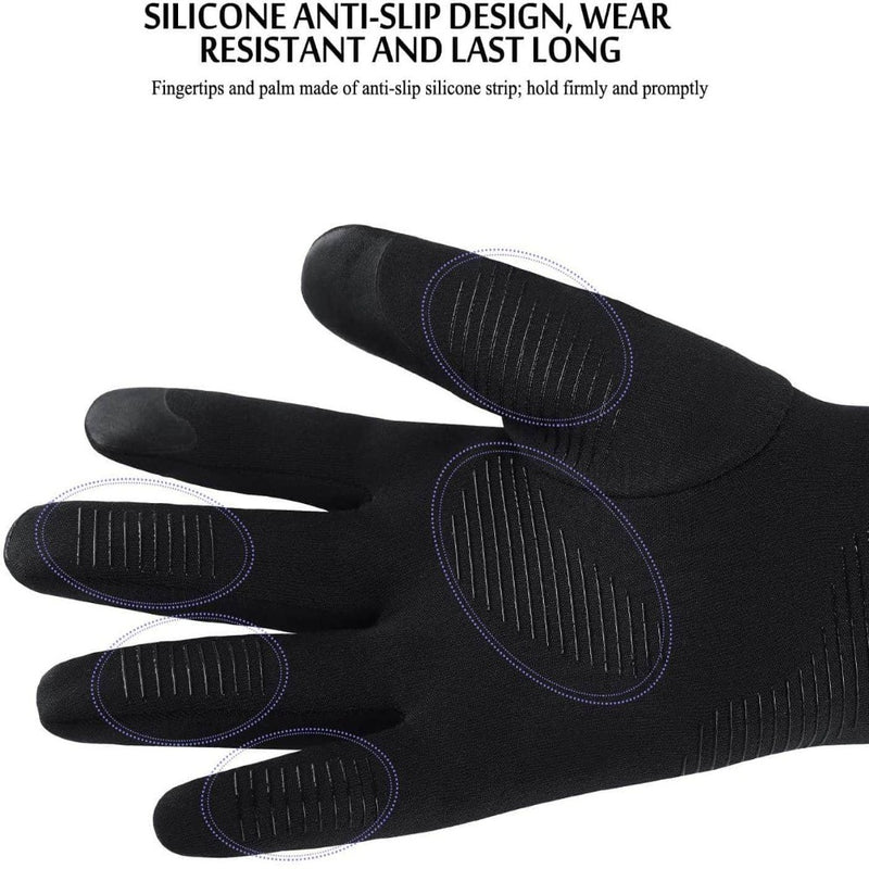 Xportus Lightweight Running Gloves with Anti-Slip Silicone Gel | Touch Screen & Waterproof Gloves