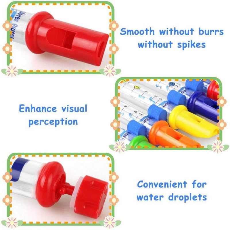 Zeqon Bath Water Flutes Toy | Colorful Water Whistling Bath Tub Tunes Music Toy