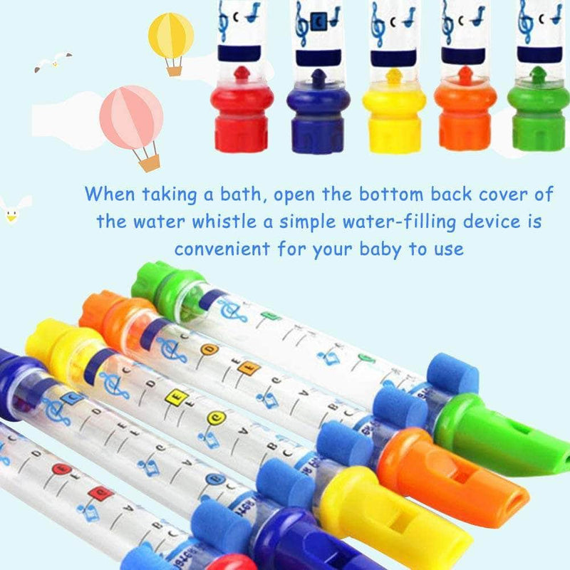 Zeqon Zeqon Bath Water Flutes Toy | Colorful Water Whistling Bath Tub Tunes Music Toy OODS0001458