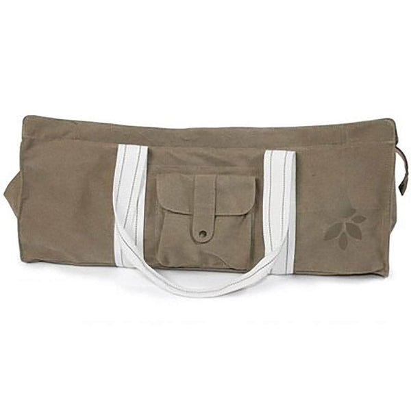 Zipple Dark Khaki Zipple Yoga Mat Tote Bag Carrier Canvas with Pocket and Zipper OODS0001378