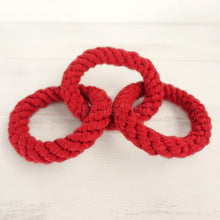 Load image into Gallery viewer, 3 Red Rings Cotton Rope Toy for Dogs - Dog Nation