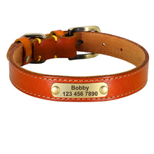 Load image into Gallery viewer, Phoenix Genuine Leather Dog Collar Personalised - Dog Nation