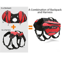 Load image into Gallery viewer, Dog Backpack Harness Deluxe 2 in 1 - Dog Nation