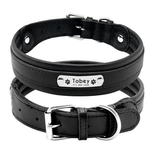 Genuine Leather Personalised Dog Collar - Dog Nation
