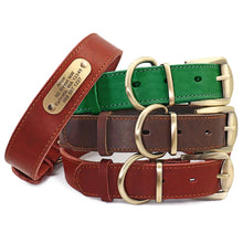 Load image into Gallery viewer, Sirius Genuine Leather Dog Collar and Leash Set Personalised - Dog Nation