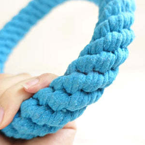 Blue Ring Cotton Rope Toy for Dogs - Dog Nation