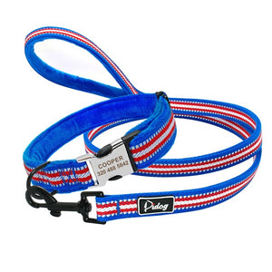 Soft Padded Nylon Dog Collar and Leash Set Coleira Perro - Dog Nation