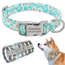 Load image into Gallery viewer, Leo Colourful Personalised Nylon Dog Collar - Dog Nation