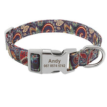 Load image into Gallery viewer, Colourful Personalised Nylon Dog Collar for Small Medium & Large Dogs - Dog Nation