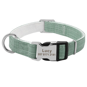 Neptune Personalised Dog Collar Nylon Engraved - Dog Nation