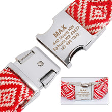 Load image into Gallery viewer, 100% Cotton Thick Strong Personalised Dog Collar - Dog Nation