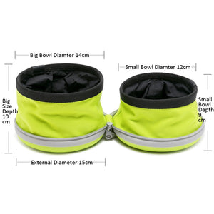 Collapsible 2 in 1 Dog Bowl for Food and Water - Dog Nation