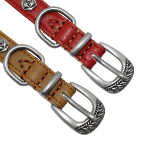 New Design Genuine Leather Dog Collar