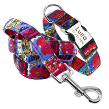 Load image into Gallery viewer, Attractive Personalised Nylon Dog Collar & Leash Set - Dog Nation