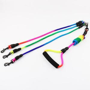 Detachable Triple Dog Leash For 1-2-3 Dogs - Dog Nation
