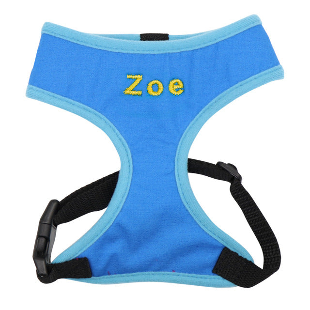 Dog Harness Adjustable Mesh Breathable Personalised - Dog Nation
