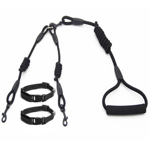 Double Dog Leash for 2 Dogs with Collars Set - Dog Nation