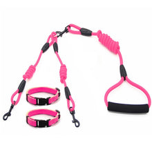 Load image into Gallery viewer, Double Dog Leash for 2 Dogs with Collars Set - Dog Nation