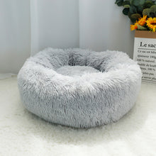 Load image into Gallery viewer, Round Plush Super Soft Dog Bed - Dog Nation