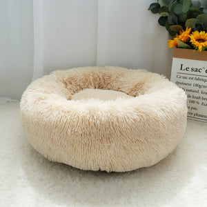 Round Plush Super Soft Dog Bed - Dog Nation