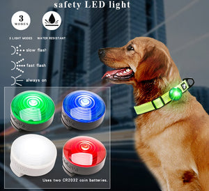 Safety LED Light for Dog Collar or Harness Water Resistant - Dog Nation