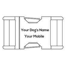 Load image into Gallery viewer, The Black Plaid Personalised Dog Collar Handmade Laser Engraved - Dog Nation