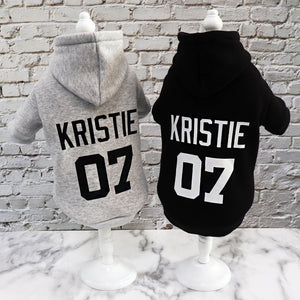 Winter Dog Hoodie Personalised Cotton - Dog Nation