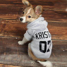 Load image into Gallery viewer, Winter Dog Hoodie Personalised Cotton - Dog Nation