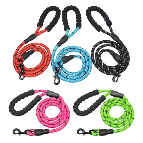 Large Reflective Dog Leash With Comfortable Soft Grip - Dog Nation