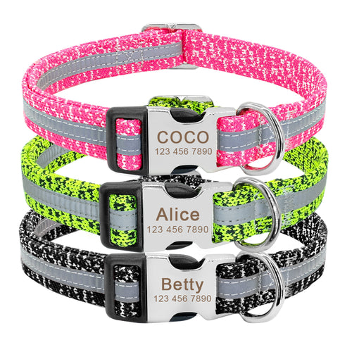 Pluto Personalised Reflective Dog Collar - Dog Nation