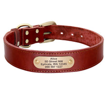 Load image into Gallery viewer, Sirius Genuine Leather Dog Collar Personalised - Dog Nation