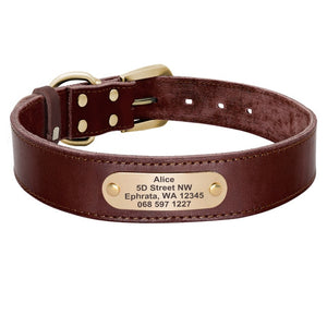 Sirius Genuine Leather Dog Collar Personalised - Dog Nation