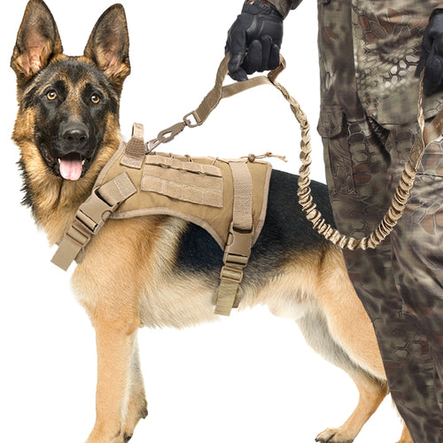 Military Style Dog Harness Vest Set With Handle - Dog Nation