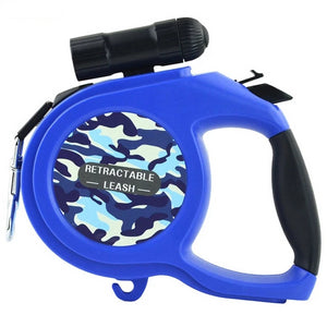 Retractable Dog Leash with LED Torch 8M