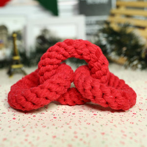 3 Red Rings Cotton Rope Toy for Dogs - Dog Nation