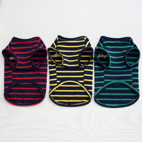 Small Dog Striped T-shirt - Dog Nation
