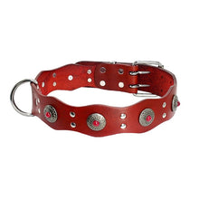 Load image into Gallery viewer, Durable Genuine Leather Dog Collar Handmade