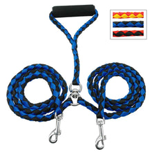 Load image into Gallery viewer, Strong Double Dog Leash with Soft Padded Handle - Dog Nation