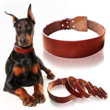 Load image into Gallery viewer, Theo Heavy Duty Genuine Leather Dog Collar - Dog Nation