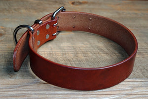Theo Heavy Duty Genuine Leather Dog Collar - Dog Nation