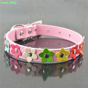 Colourful Flower Dog Collar - Dog Nation