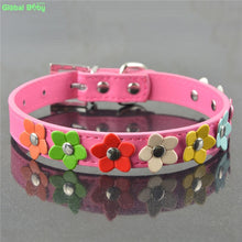 Load image into Gallery viewer, Colourful Flower Dog Collar - Dog Nation