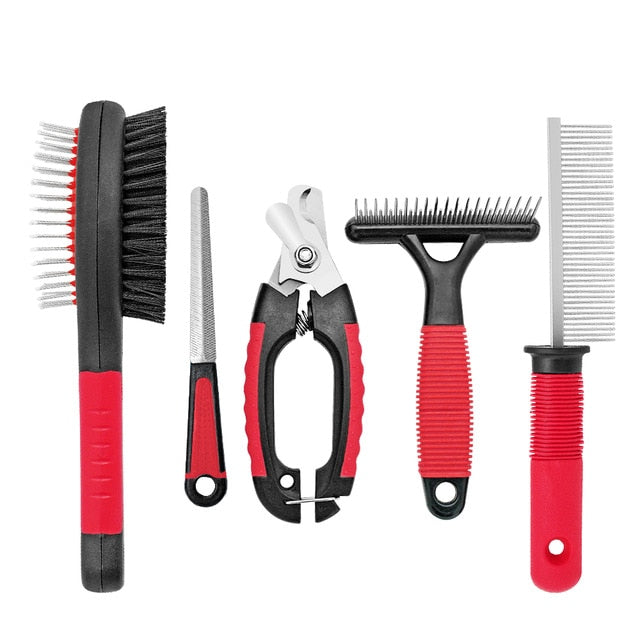 Dog Grooming Tools Set 5-Piece Stainless Steel - Dog Nation
